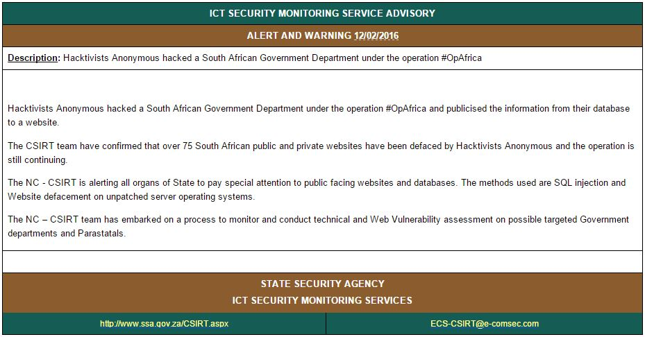 southafricasitehacked