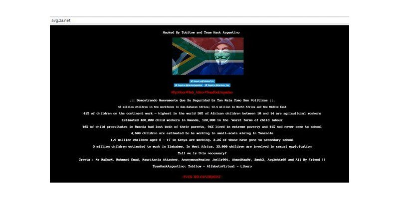 2,532 South African Websites Defaced By Tobitow