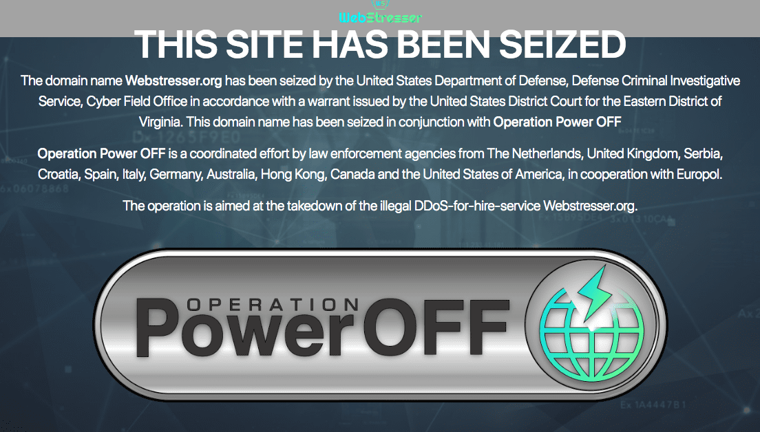 "It appears that there is at least one point for the ""good guys"" when it comes to battling those that launch the dreaded DDoS attacks. A targeted action called ""Operation Power Off"" was coordinated between U.K., U.S. and Netherlands authorities in which they took down the organisation known as ""WebStresser.org"